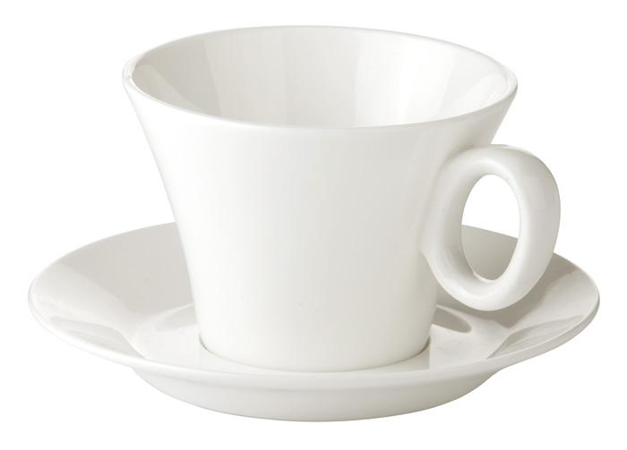Porcelánové šálky s podšálkem Allegro - na čaj