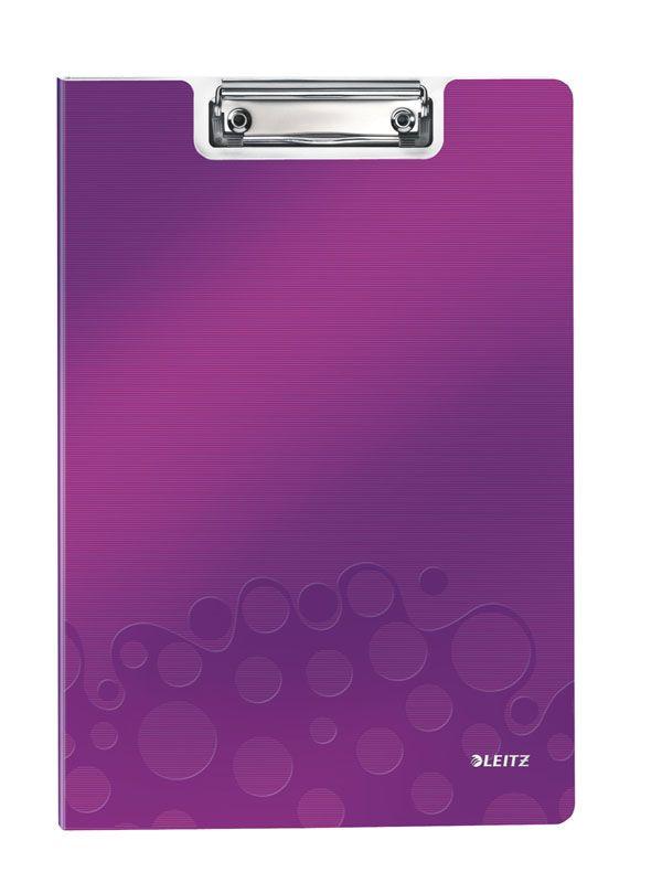 Podložka A4 s klipem Leitz WOW - fialová
