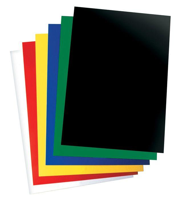 Desky pro kroužkovou vazbu zadní strana - A4 / černá / 100 ks