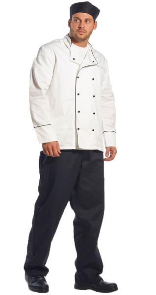 Kuchařské kalhoty černé PORTWEST S