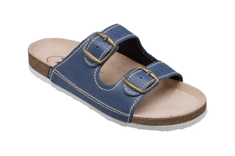 Zdravotní pantofle modrý 36