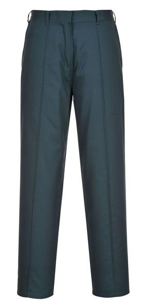Dámské elastické kalhoty prodloužené S černá