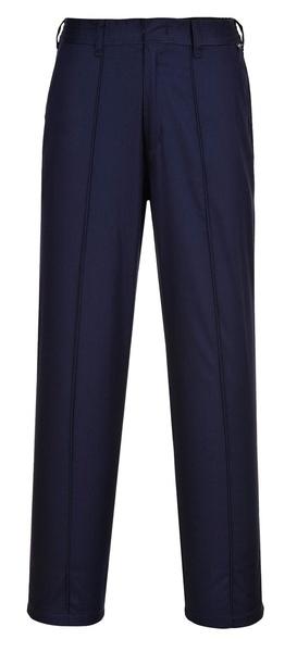 Dámské elastické kalhoty prodloužené L námořní modrá