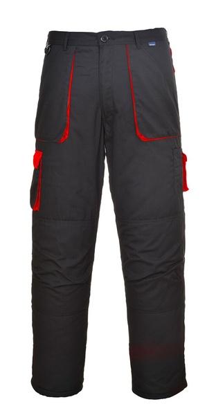 Portwest Texo dvoubarevné prodloužené kalhoty M červená