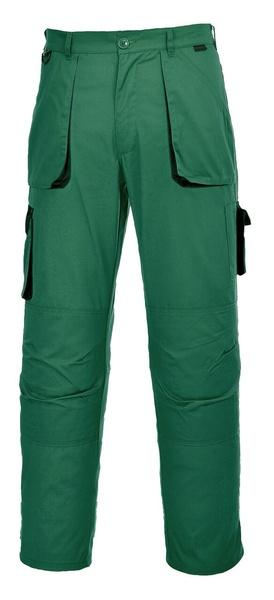 Portwest Texo dvoubarevné prodloužené kalhoty M lahvově zelená