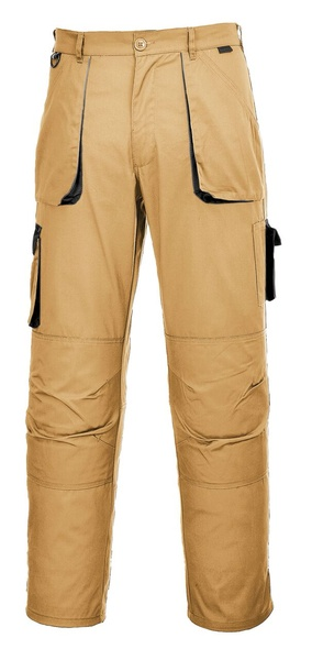 Portwest Texo dvoubarevné prodloužené kalhoty M písková