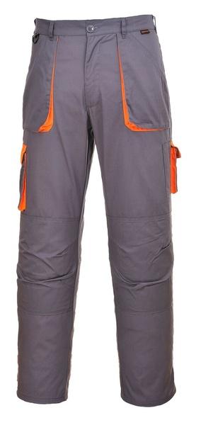 Portwest Texo dvoubarevné prodloužené kalhoty M šedá