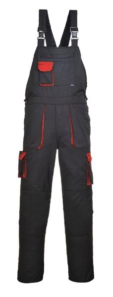 Portwest Texo laclové dvoubarevné prodloužené kalhoty M červená