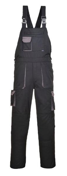 Portwest Texo laclové dvoubarevné prodloužené kalhoty M černá