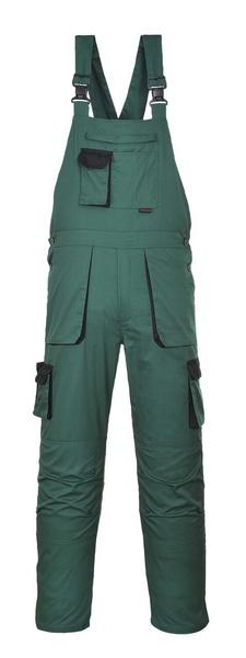 Portwest Texo laclové dvoubarevné prodloužené kalhoty M lahvově zelená