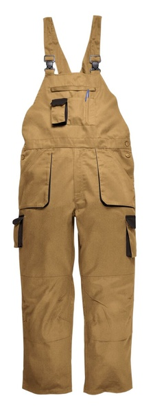 Portwest Texo laclové dvoubarevné prodloužené kalhoty M písková