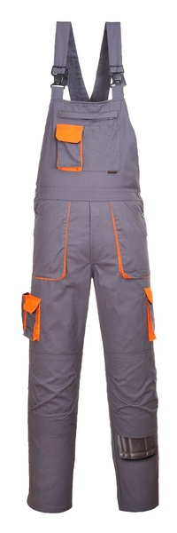 Portwest Texo laclové dvoubarevné prodloužené kalhoty M šedá