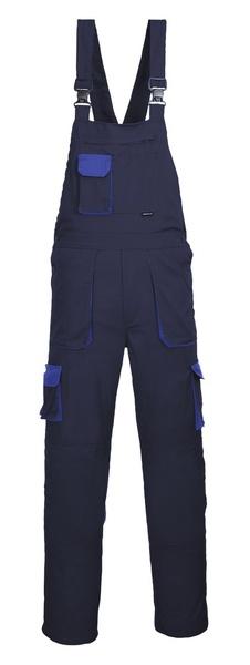 Portwest Texo laclové dvoubarevné prodloužené kalhoty M námořní modrá