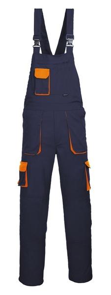 Portwest Texo laclové dvoubarevné prodloužené kalhoty M oranžová