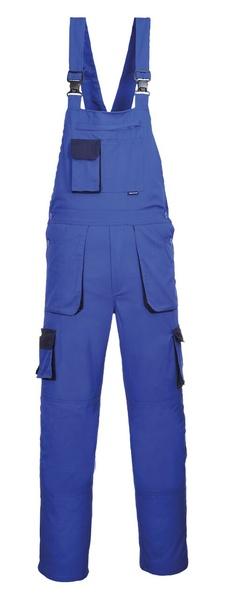 Portwest Texo laclové dvoubarevné prodloužené kalhoty M královská modrá