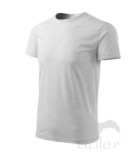 Tričko pánské BASIC XXXL světle šedý melír