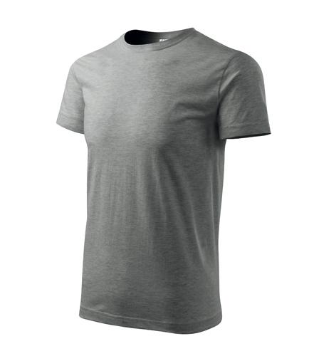 Tričko pánské BASIC L tmavě šedý melír