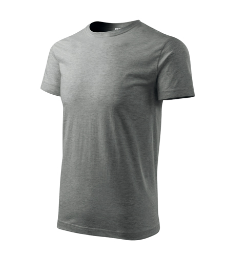 Tričko pánské BASIC XXL tmavě šedý melír