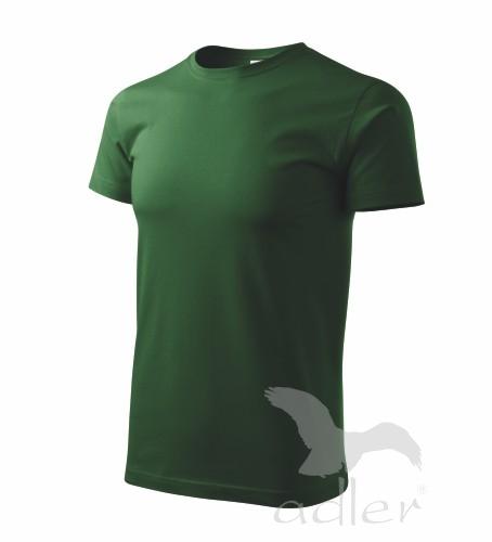 Tričko pánské BASIC L lahvově zelená