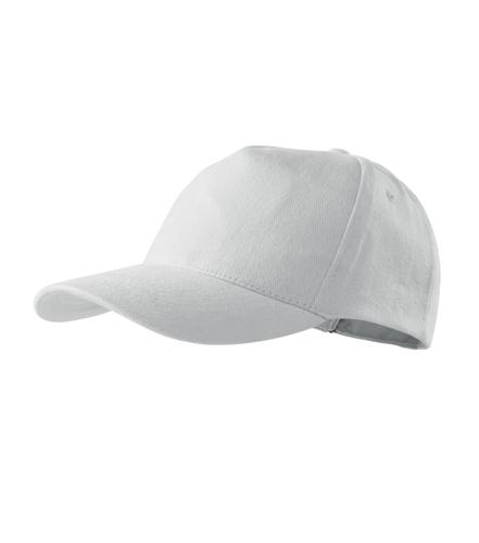 Čepice s kšiltem unisex 5P bílá