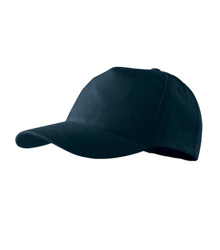 Čepice s kšiltem unisex 5P námořní modrá
