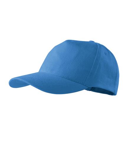 Čepice s kšiltem unisex 5P azurově modrá