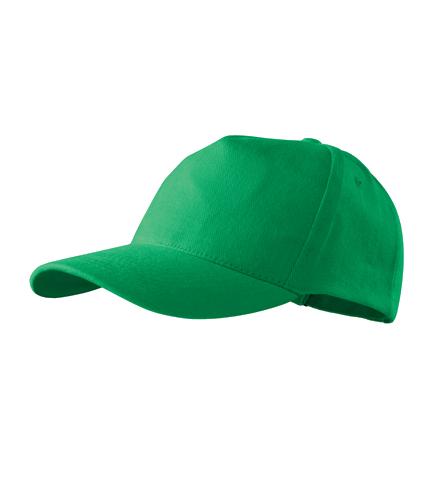 Čepice s kšiltem unisex 5P středně zelená