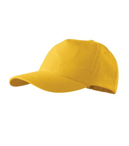Čepice s kšiltem unisex 5P žlutá