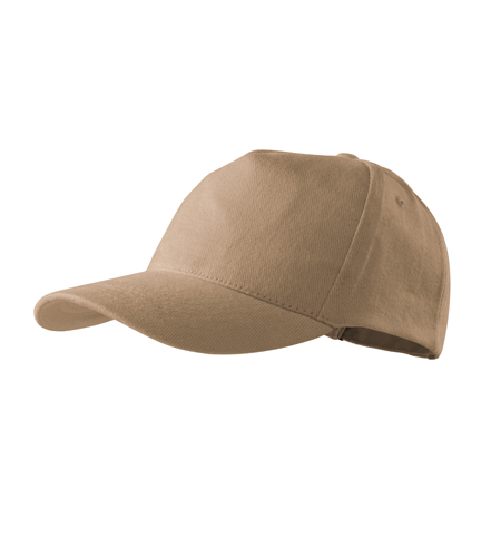 Čepice s kšiltem unisex 5P písková