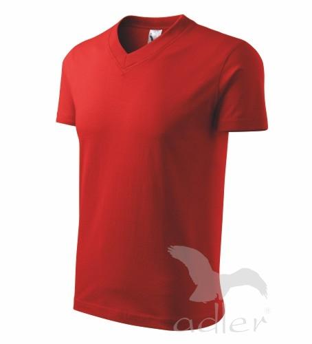 Tričko unisex V-NECK XXL červená