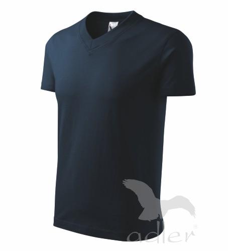 Tričko barevné do V-neck L námořní modrá
