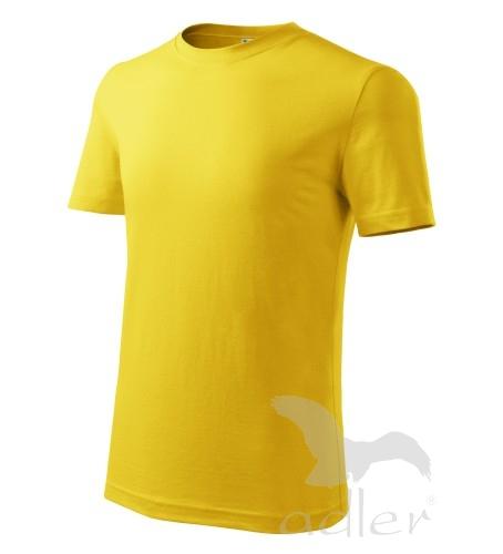 Dětské tričko CLASSIC NEW 122/6 let žlutá