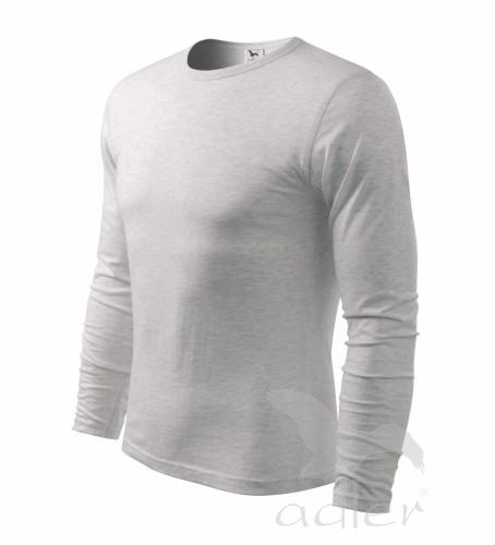 Triko dlouhý rukáv Long Sleeve S světle šedý melír