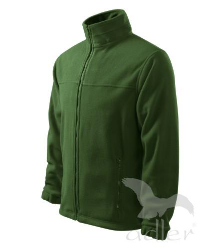 Bunda pánská Fleece Jacket S lahvově zelená