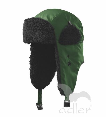 Zimní čepice Furry S lahvově zelená