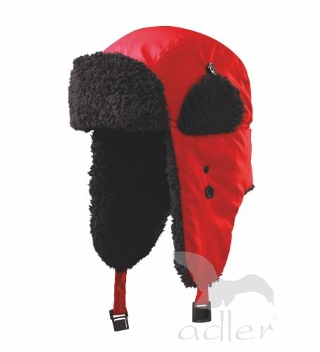 Zimní čepice Furry L červená