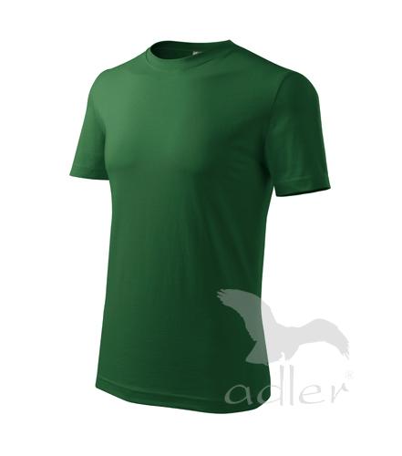 Tričko pánské barevné CLASSIC NEW M lahvově zelená