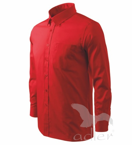Košile pánská Shirt long sleeve XXXL červená