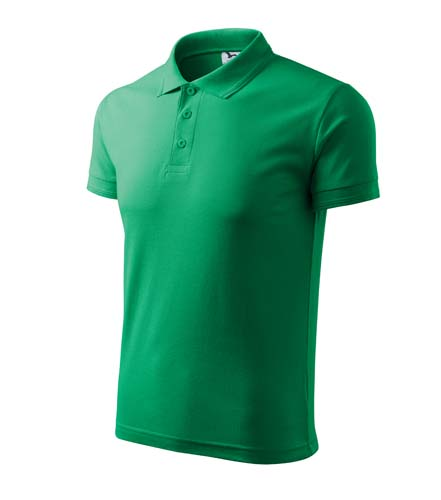 Polokošile pánská PIQUE POLO L středně zelená