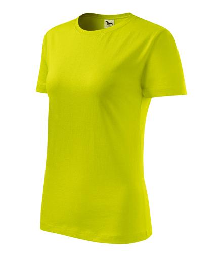 Tričko dámské BASIC M limetková