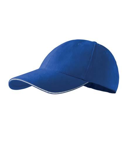 Čepice s kšiltem unisex SANDWICH 6P královská modrá