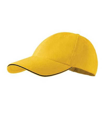 Čepice s kšiltem unisex SANDWICH 6P žlutá