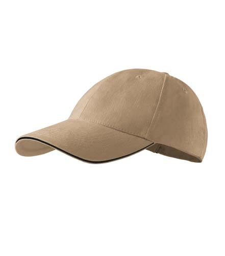 Čepice s kšiltem unisex SANDWICH 6P písková