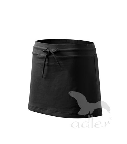 Sukně dámská Skirt two in one XL černá