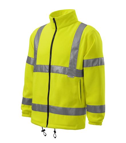 Reflexní mikina Fleece Jacket XL reflexní žlutá