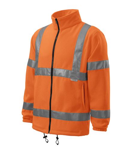 Reflexní mikina Fleece Jacket XL reflexní oranžová