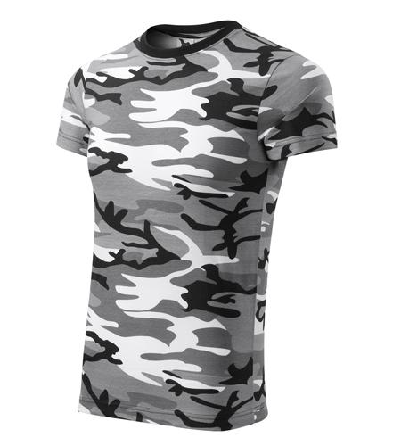 Maskáčové tričko camoflage gray XL