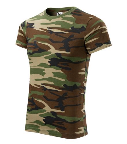 Maskáčové tričko XL camouflage brown