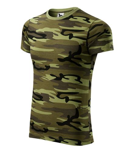 Maskáčové tričko XL camouflage green