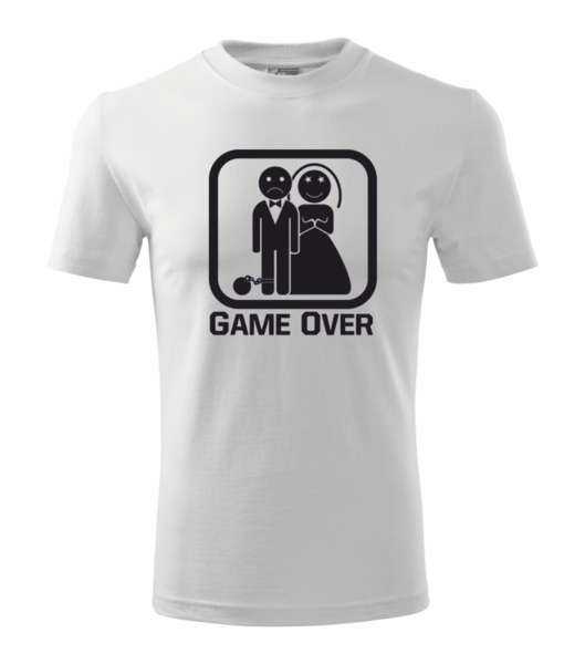 Tričko GAME OVER L bílá